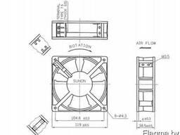 Вентилятор DP200A2123XBT.GN sunon