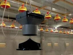 Водный воздухонагреватель для птицефабрики