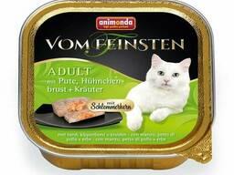 Vom Feinsten - паштет для кошек Меню для гурманов с индейкой, куриной грудкой и травами. ..