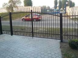 Ворота ажурные с калиткой в комплекте со столбами