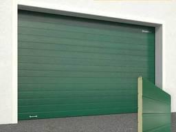 Ворота гаражные секционные Doorhan (6005 зеленый)