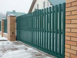 Ворота и калитки из металлоштакетника