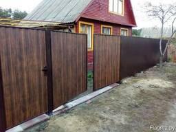 Комплект металлических распашных ворот