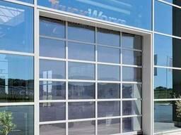 Ворота из алюминиевых панорамных панелей