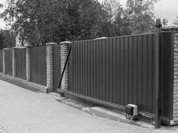 Ворота из профильной трубы откатные с установкой и без