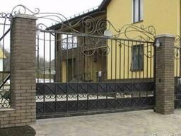 Ворота откатные (уличные) готовый комплект с ковкой под ключ