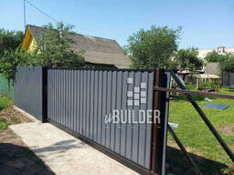 Ворота откатные забор профнастил металлоштакетник рабица