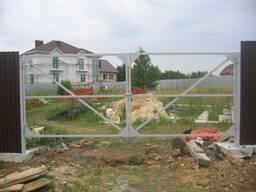 Ворота распашные без калитки под ключ 3 на 2 метра