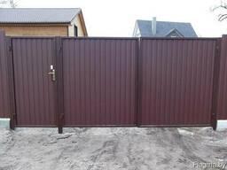 Ворота распашные для дома и дачи под ключ в Бресте и области