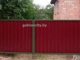 Ворота распашные из металлопрофиля