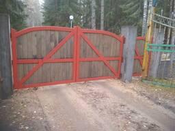 Ворота распашные уличные