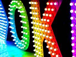 Светодиодные вывески и объемные буквы - пиксельные RGB