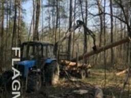 Вывозка леса с делянок.