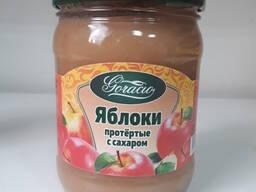 Яблоки протертые с сахаром 0,45л. /480гр.