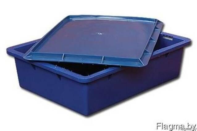 Ящик (лоток) с крышкой, пластиковый, пищевой