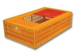 Ящик П1 пластиковый для перевозки живой птицы970х570х270.