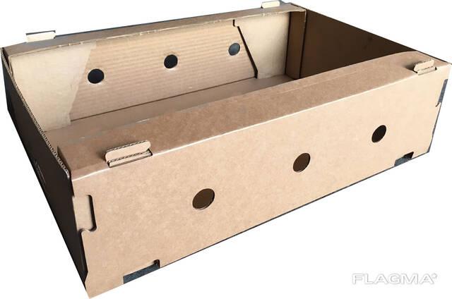 Яблочный лоток, коробка 580*380*160 пятислойная. В наличии.