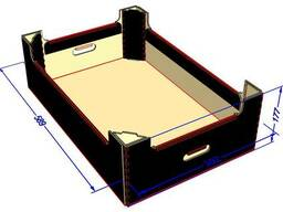 Ящик под яблоки (яблочный лоток) под автоматическую склейку