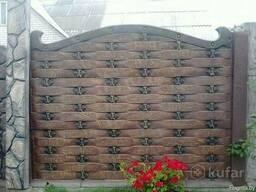 Забор бетонный Плетёнка