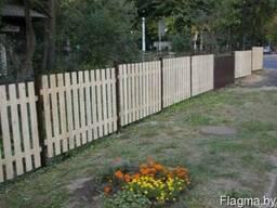 Забор деревянный 1002