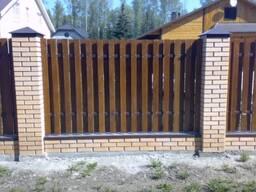 Забор деревянный ШАХМАТЫ