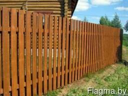 Забор деревянный штакетник