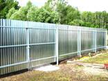 Забор эконом из профнастила под ключ (материалы, доставка, работа) - фото 7
