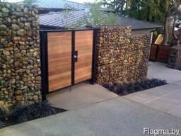 Забор из камня. Забор из сетки. Забор из габионов