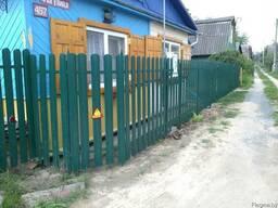 Забор из металлического штакетника - фото 3