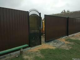 Забор из Металлопрофиля Евроштакета Сетки-рабицы