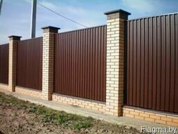 Забор из металлопрофиля в Копыле