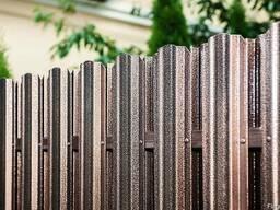Забор из металлоштакетника, металлопрофиля