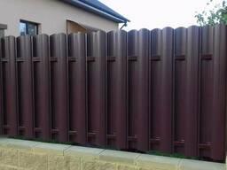 Забор из металлоштакетника под любой размер