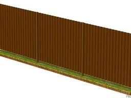 Забор из профлиста 1,7м