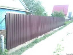 Забор из профлиста (металлопрофиля)