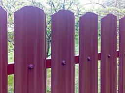 Забор из профнастила и металлоштакетника
