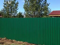 Забор из профнастила (металлический). Рассрочка