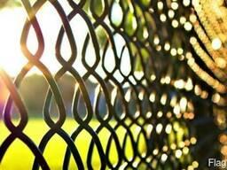 Забор из сетки рабицы под ключ, рассрочка