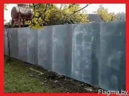 Забор из шифера с доставкой в Мозырь