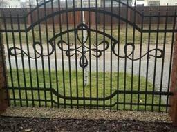 Забор кованый, металлический, ковка