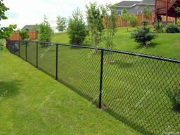 Забор из сетки рабицы , секционный забор