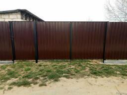 Заборы из металлопрофиля, сетки-рабицы, ворота, калитки
