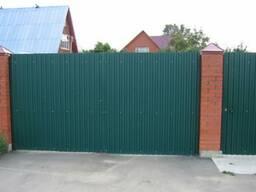 Заборы, ворота, калитки из профнастила