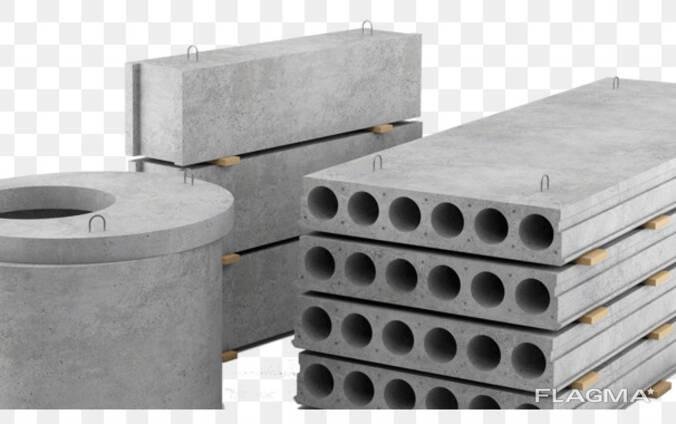 ЖБИ (полушпалы, плиты, кольца, лотки, блоки лестницы), бетон
