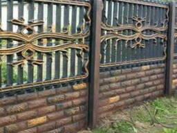 Железобетонный секционный забор высотой 2 метра