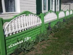 Железобетонный забор «Кирпичик и цветок»