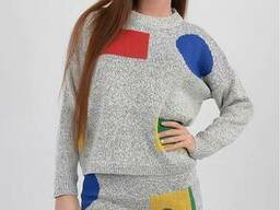 Женский (свитер юбка) Костюм Оптом