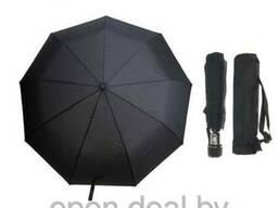 Зонт мужской автомат, ветроустойчивый, цвет черный